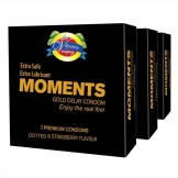 Moments Gold Delay Condoms 3 Pack