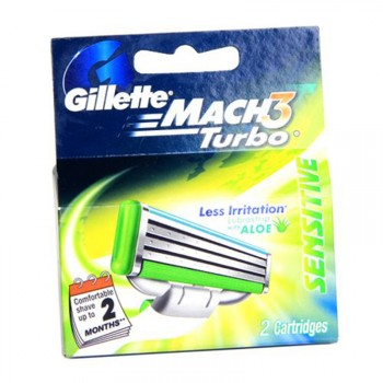 Gillette Mach 3 Turbo Cartridges 2s