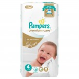 Pampers Premium Care Size 4 (9-18 KG) 52 Counts