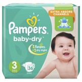 Pampers Baby Dry Size 3 (6-10 KG) 36 Counts