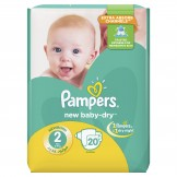 Pampers New Baby-Dry Size 2 (3-8 KG) 20 Counts