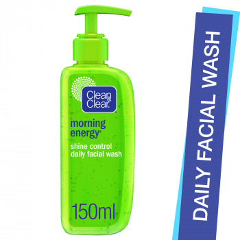 Clean & Clear Daily facial wash morning energy shine control, 150 ml