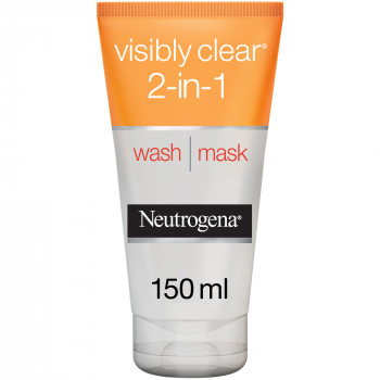 Neutrogena Facial Wash Visibly Clear 2-in-1 Wash Mask 150 ml