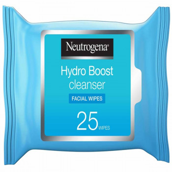 Neutrogena Makeup Remover Wipes Hydro Boost Cleansing Face Pack of 25 wipes