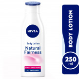 NIVEA Body Lotion Natural Fairness, Body Care Liquorice & Berry Extracts, Dry Skin, 250ml