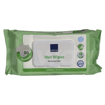 Abena Adult Wet Wipes with Lid 80 Pcs. Pack