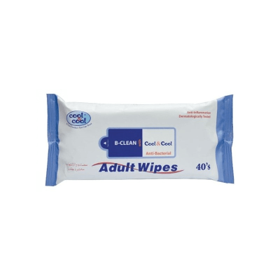 Cool & Cool B-Clean Anti-Bacterial Adult Wipes