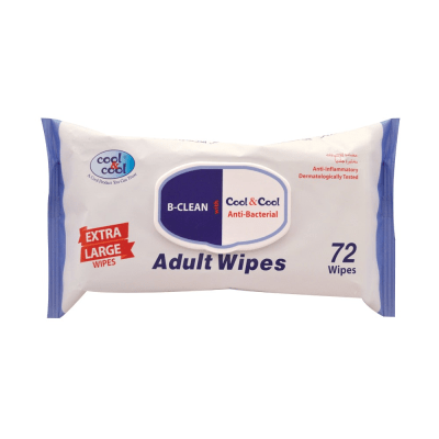 Cool & Cool B-Clean Anti Bacterial Adult Wipes