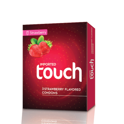 Touch Strawberry Condoms 3s