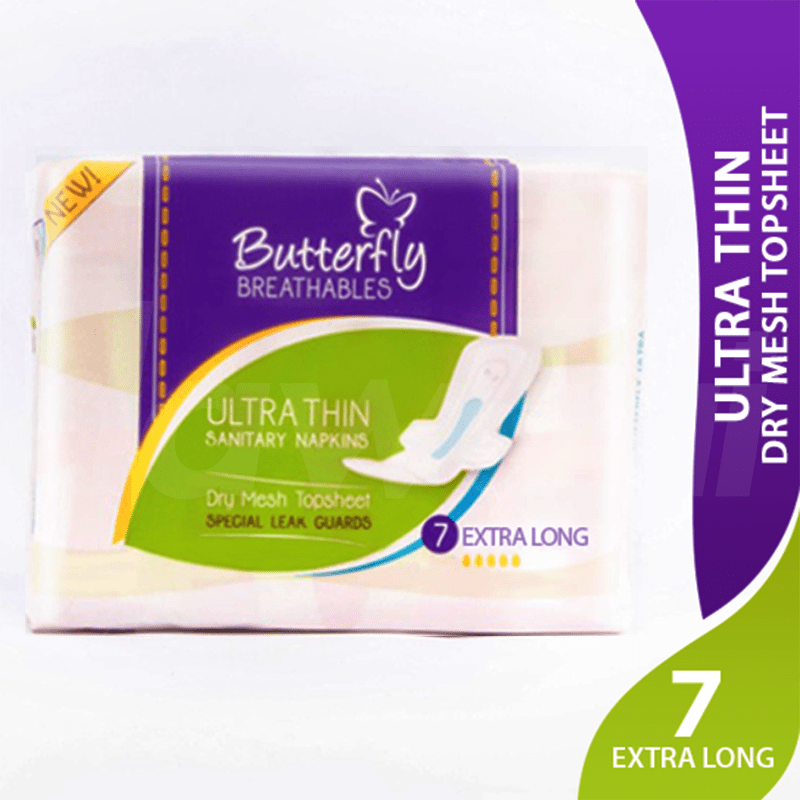 Butterfly Breathables Dry Net Mesh - Large Sanitary Pads 8 Pcs. Pack.