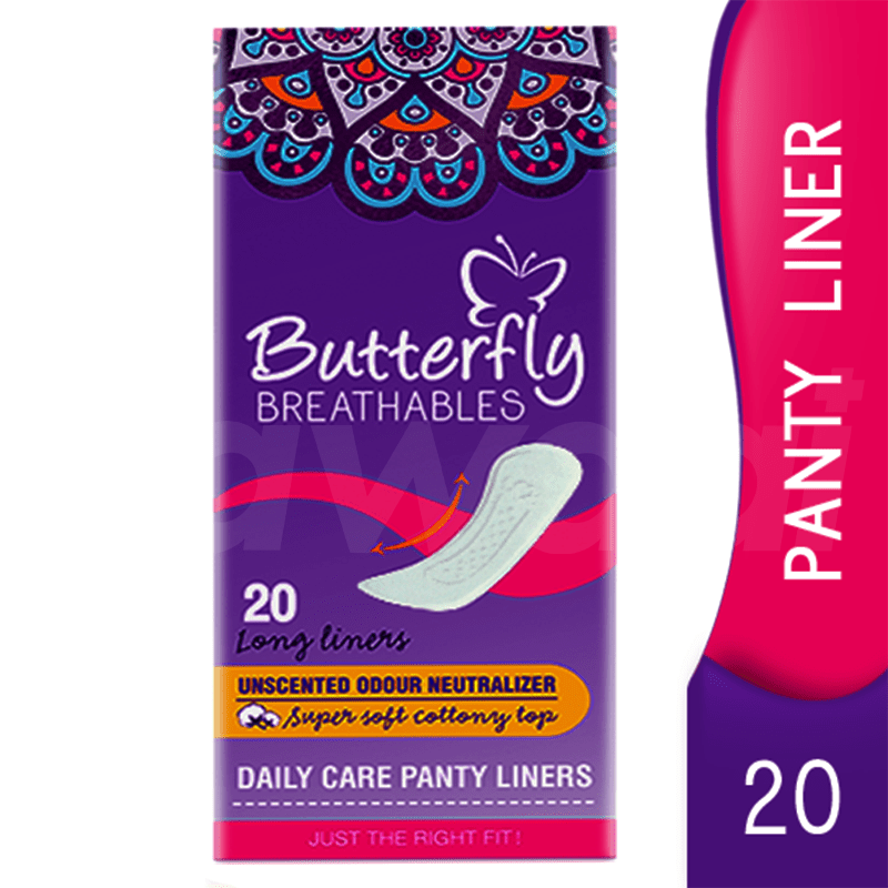 Butterfly Panty Liner 20 Pcs. Pack