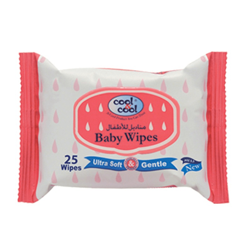 Cool & Cool Baby Wipes (Travel Pack)