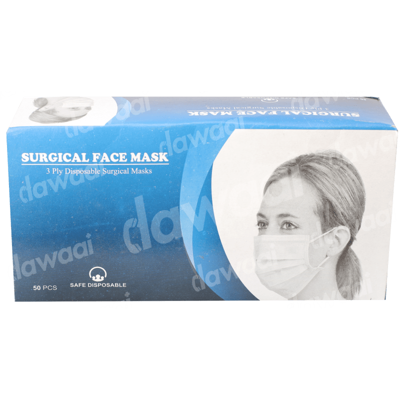 Face Mask 3ply with Nose Pin