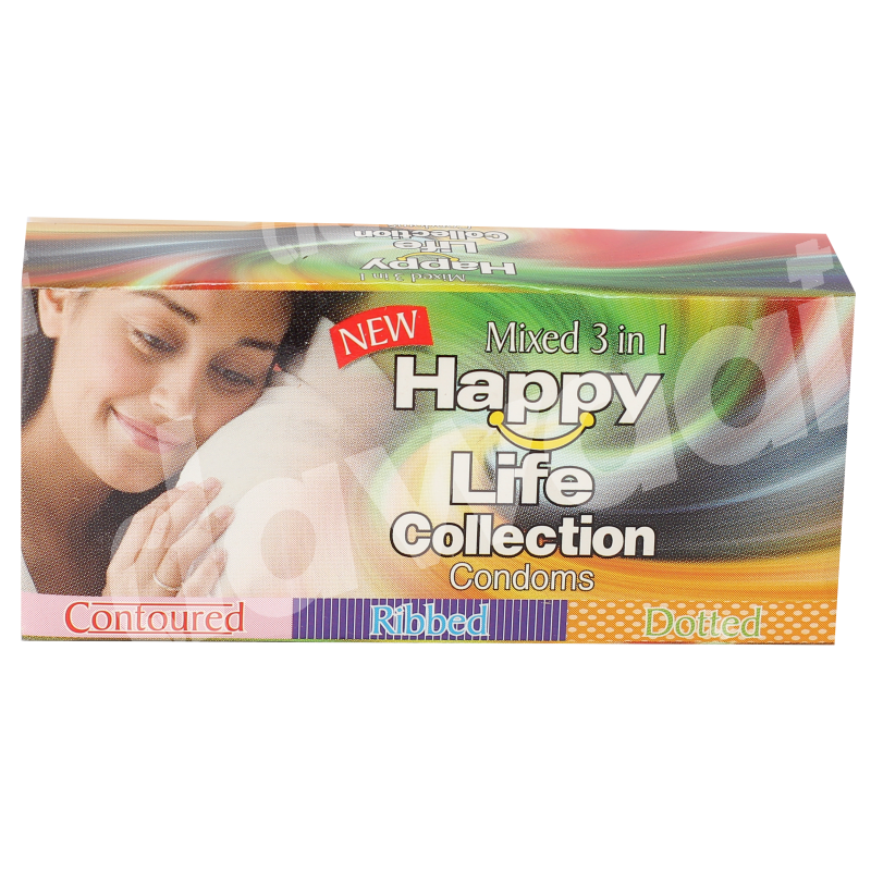 Happy Life Collection Condoms Mixed 3 in 1