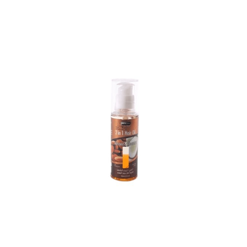 Hemani 2 In 1 Hair Oil Almond And Coconut 120 Ml