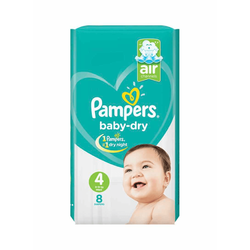 Pampers Baby-Dry Size 4 (9-18 KG) 8 Counts